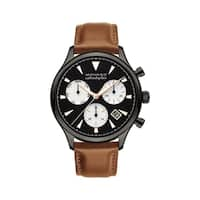 Movado Men's 3650022 'Heritage' Chronograph Brown Leather Watch