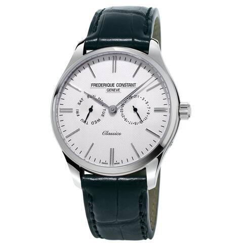 Frederique Constant Men's FC-259ST5B6 'Classics' Black Leather Watch