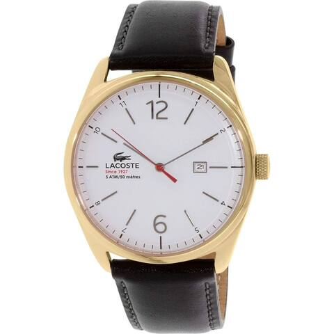 Lacoste Men's 2010681 'Austin' Black Leather Watch