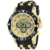 Invicta Men's 23705 'Pro Diver' Scuba Black and Gold-Tone Polyurethane and Stainless Steel Watch