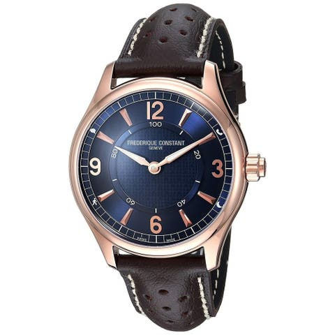 Frederique Constant Men's FC-282AN5B4 'Horological SmartWatch' Brown Leather Watch
