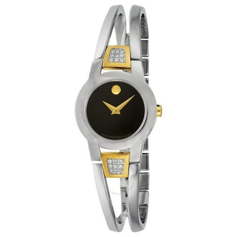 Movado Women's 0604983 'Amorosa' Dot Two-Tone Stainless Steel Bangle with Sets of Diamond Watch
