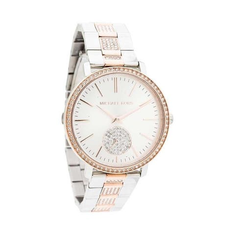 Michael Kors Women's MK3660 'Jaryn' Crystal Two-Tone Stainless Steel Watch