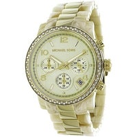 86fc57a158cb Michael Kors Women's MK5582 'Classic' Chronograph Crystal Two-Tone  Stainless Steel Watch