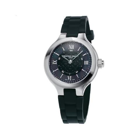 Frederique Constant Women's FC-281GH3ER6 'Horological SmartWatch' Black Rubber Watch