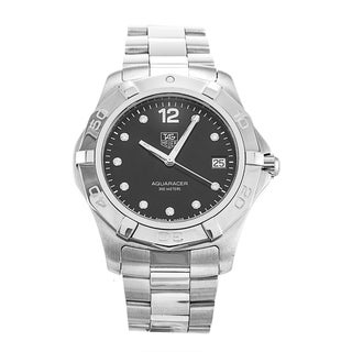 Link to Tag Heuer Women's WAF111C.BA0810 'Aquaracer' Diamond Stainless Steel Watch Similar Items in Women's Watches