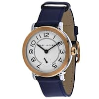 Marc Jacobs Women's MJ1602 'Riley' Blue Leather Watch