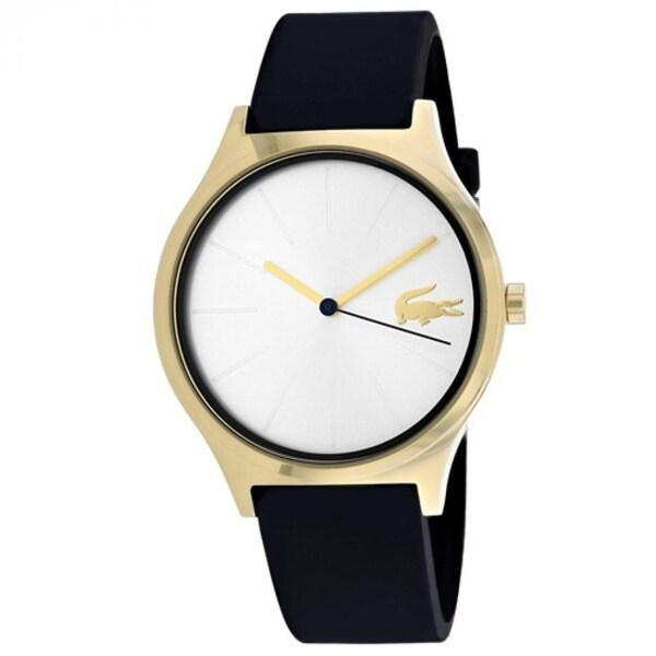580308ad5d872d Shop Lacoste Women s 2000946  Nikita  Black Silicone Watch - Free Shipping  Today - Overstock - 27375802