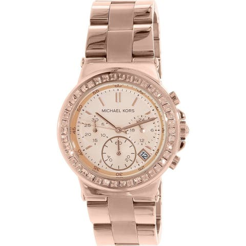 Michael Kors Women's MK5586 'Dylan' Chronograph Crystal Rose-Tone Stainless Steel Watch