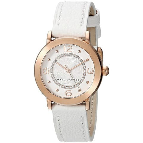 Marc Jacobs Women's MJ1618 'Riley' White Leather Watch