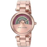Marc Jacobs Women's MJ3546 'Dotty' Rainbow Crystal Rose-Tone Stainless Steel Watch