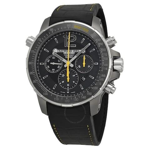 Raymond Weil Men's 7830-TIR-05207 'Nabucco' Chronograph Automatic Black Leather Watch