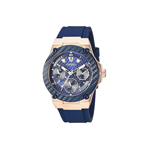Guess Women's U1094L2 'Casual' Blue Silicone Watch