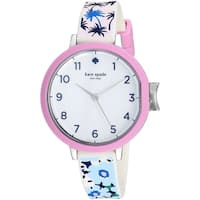 Kate Spade Women's KSW1446 'Holland' White Silicone Watch
