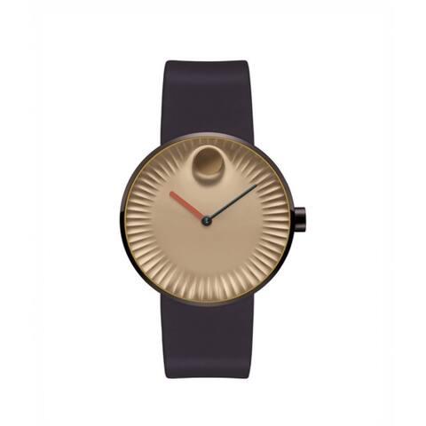 Movado Women's 3680043 'Edge' Dot Brown Leather Watch