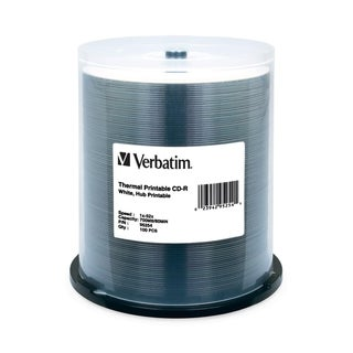 Verbatim CD-R 700MB 52X White Thermal Printable, Hub Printable - 100p