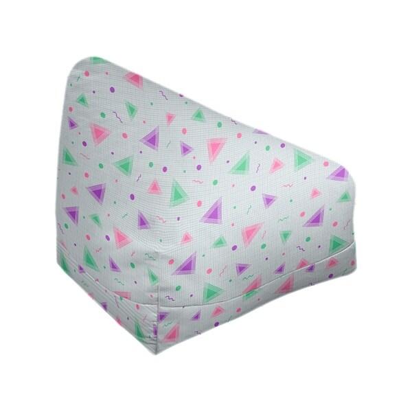 Katelyn Elizabeth Purple & Pink 90's Retro Pattern Bean Bag w/Filled Insert