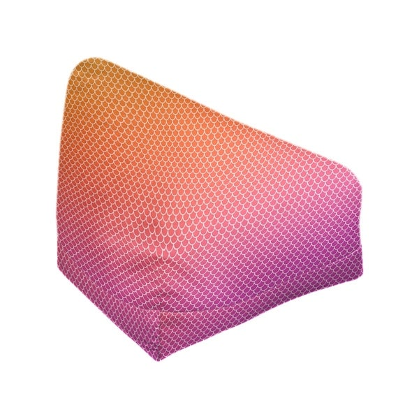 Katelyn Elizabeth Orange & Purple Mermaid Scales Bean Bag