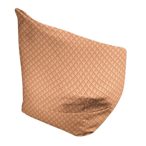 Remarkable Katelyn Elizabeth Orange Ombre Geometric Pattern Bean Bag W Filled Insert Pdpeps Interior Chair Design Pdpepsorg