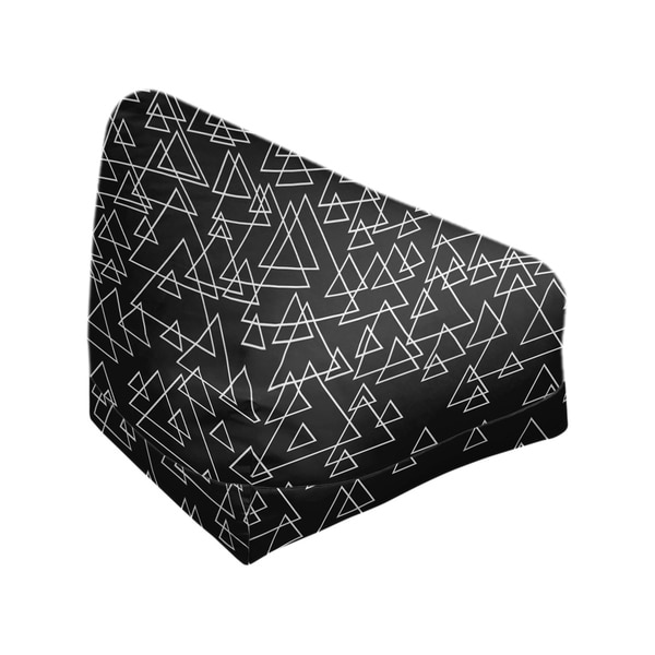 Katelyn Elizabeth Black Scattered Triangle Pattern Bean Bag