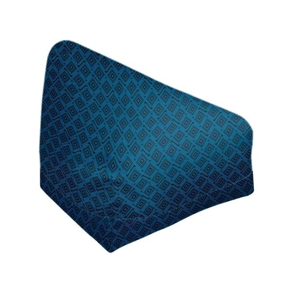 Katelyn Elizabeth Black & Blue Square Maze Bean Bag