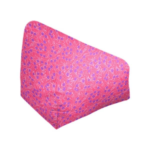 Katelyn Elizabeth Pink & Purple Swirly Floral Pattern Bean Bag