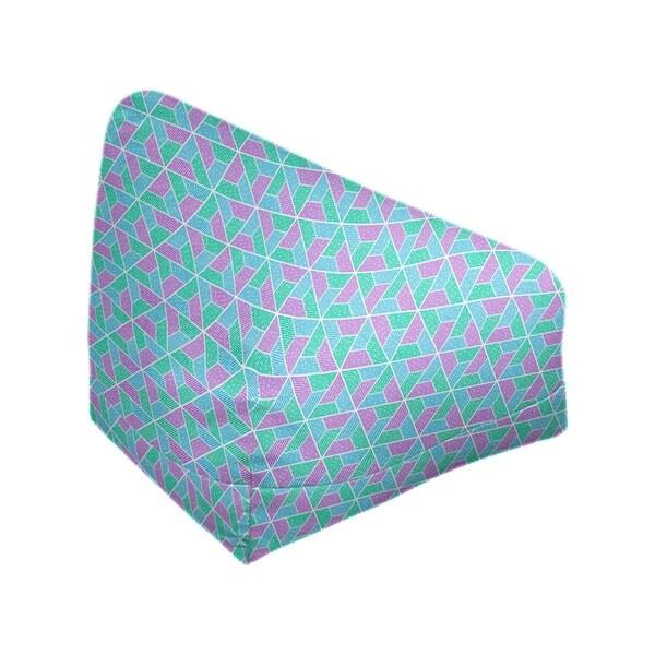 Katelyn Elizabeth Green Purple & Blue Trapezoids Bean Bag