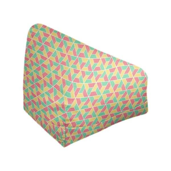 Katelyn Elizabeth Green Yellow & Red Trapezoids Bean Bag