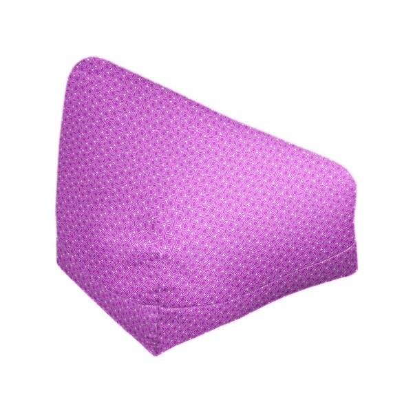Katelyn Elizabeth Violet & White Hexagonal Lattice Bean Bag