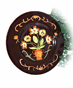 Handpainted English Sunflower Large Platter