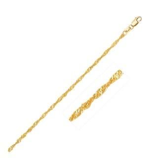14k Yellow Gold Singapore Chain 1 7mm