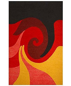 Hand-tufted Whirl Wool Rug (5' x 8')