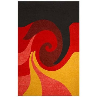 Hand-tufted Whirl Wool Rug (8' x 10'6)