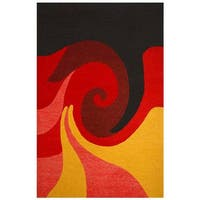 Hand-tufted Whirl Wool Rug - 8' x 10'6