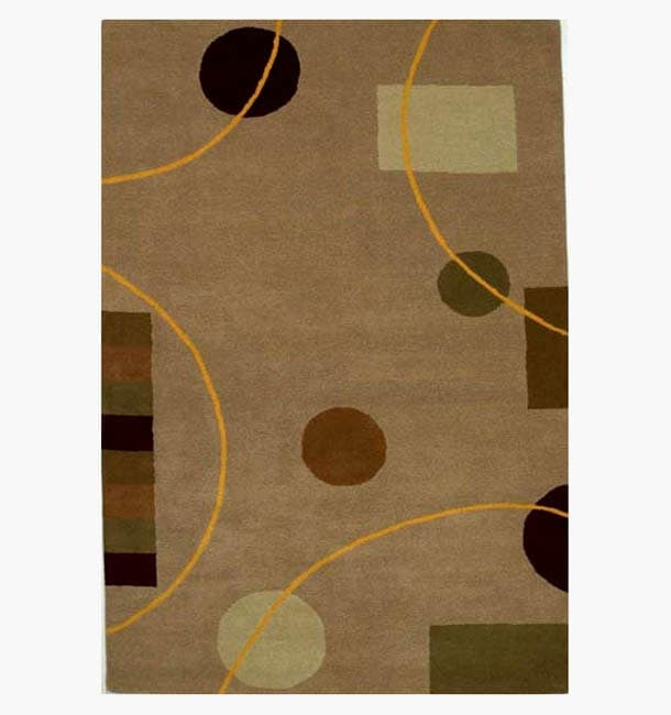 Hand-tufted Eklas Contemporary Wool Rug - 8' x 10'6