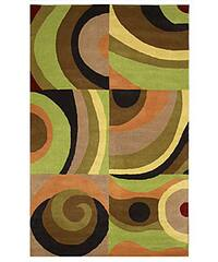 Hand-tufted Parial Wool Rug - 5' x 8'