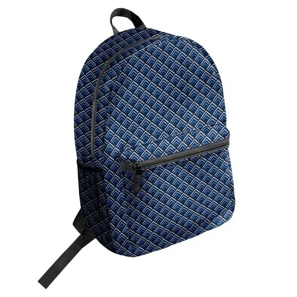 Shop Katelyn Elizabeth Black   Blue Reverse Ombre Geometric Pattern Backpack  - 17 x 12.5 x 5 - Free Shipping Today - Overstock.com - 27383390 1a55410588dcf