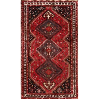 "Antique Shiraz Geometric Hand Made Wool Persian Area Rug - 8'6"" x 4'11"""