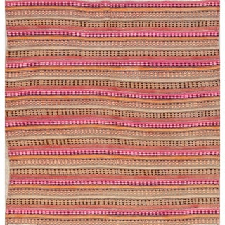 "Kilim Stripe Hand Woven Wool Persian Area Rug - 6'0"" x 5'10"" Square"