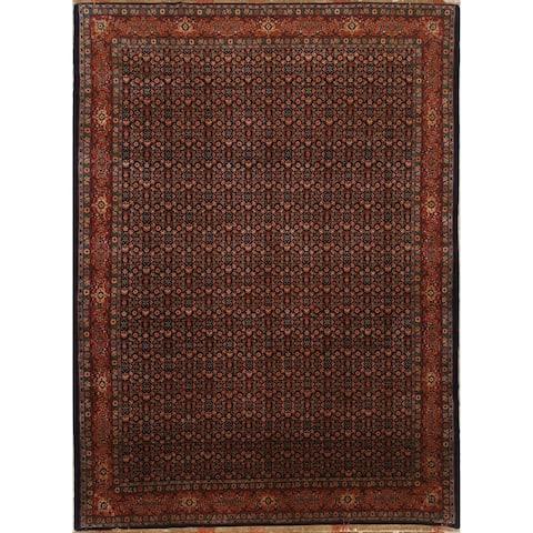 "Senneh Geometric Handmade Kork Wool Persian Area Rug - 9'8"" x 7'1"""