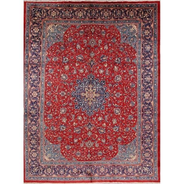 Shop Vintage Sarouk Medallion Handmade Wool Persian Area