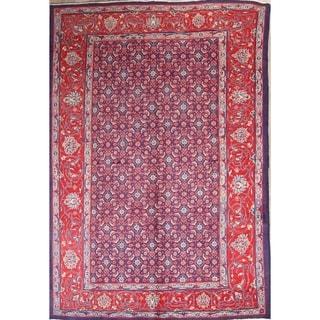 "Sarouk Geometric Handmade Wool Persian Area Rug - 10'3"" x 7'0"""