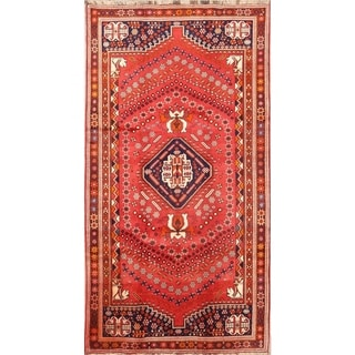 "Shiraz Geometric Hand Made Wool Persian Rug - 10'1"" x 5'2"" Runner"