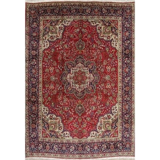 """Tabriz Floral Hand Made Wool Persian Area Rug - 13'4"""" x 9'9"""""""