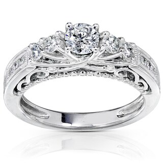 Annello by Kobelli 14k Gold 3/4ct TDW Round Brilliant Diamond Ring