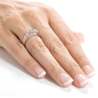 Annello by Kobelli 14k Gold 3/4ct TDW Round Brilliant Diamond Ring (H-I, I1-I2)