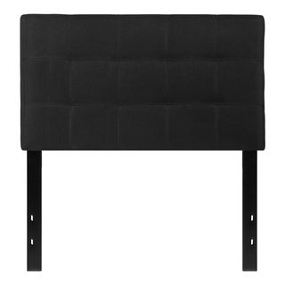 Offex Contemporary Tufted Upholstered Twin Size Panel Headboard in Black Fabric