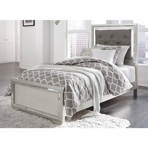Silver Orchid Brundage Silver Panel Bed