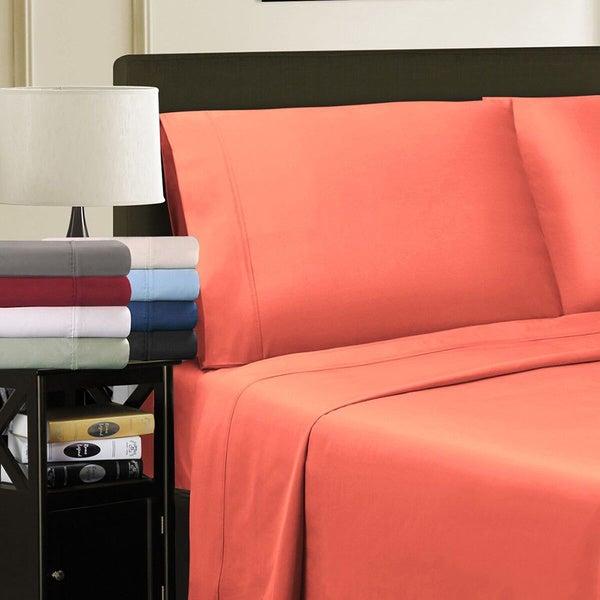 Superior 100-percent Premium Long-staple Combed Cotton 800 Thread Count Solid Pillowcase Set