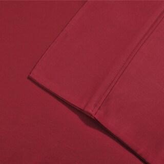 Superior Egyptian Cotton 800 Thread Count Pillowcase Set (Set of 2) (Option: King / Burgundy)